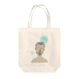 おじいちゃん Tote bags