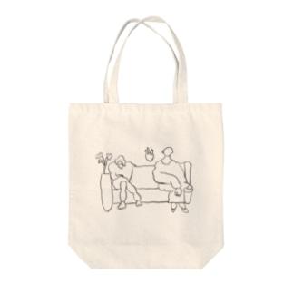 微妙な距離感 Tote bags