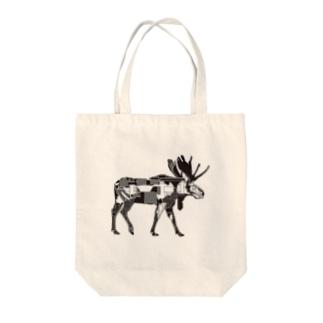 ヘラジカ Tote bags