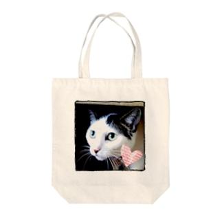 凛々しいネコさん Tote bags
