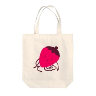 いちごの生き物 Tote bags