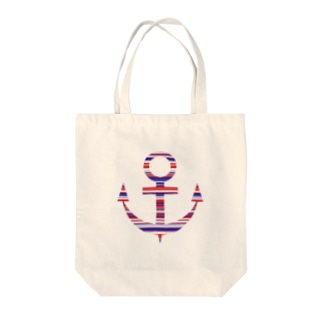 Anchor(Stripe) Tote bags