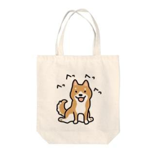 柴犬横座り Tote bags