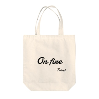 On fire Tote bags