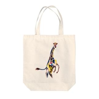 キリン Tote bags