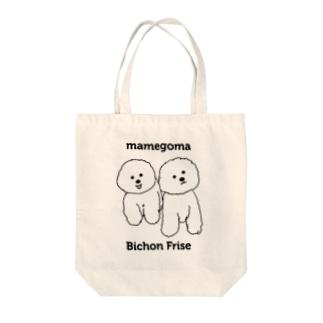 mamegoma03 Tote bags