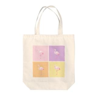 ふらみんご Tote bags