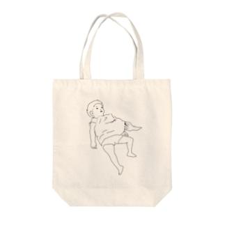 起こすなキケン Let sleeping dogs lie. Tote bags