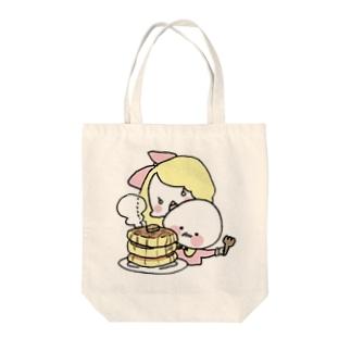 たまごだんしゃく (パンケーキ/カラー) Tote bags