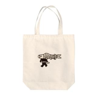 【期間限定】ジャンボこいのぼりマン Tote bags