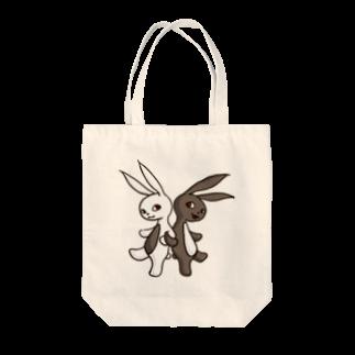 ponsukeの腹黒ウサギと腹白ウサギ Tote bags