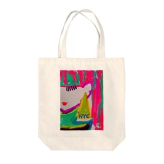 ユニコーンガール Tote bags