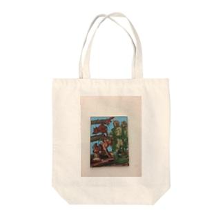 ミュンヘン絵画Tシャツ Tote bags