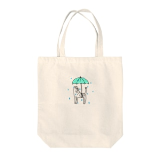 雨降り魚猫 Tote bags