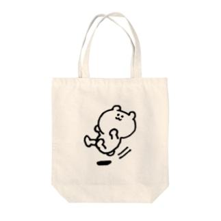 すべるくま Tote bags