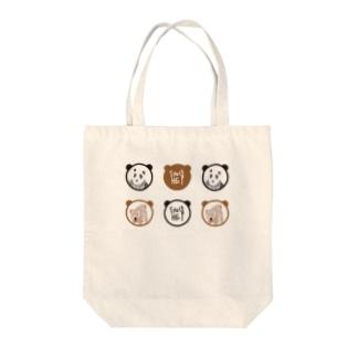 パンダとくま Tote bags
