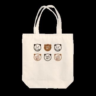 ★いろえんぴつ★のパンダとくま Tote bags