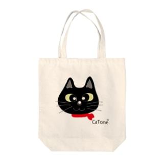 黒猫シリーズ Tote bags