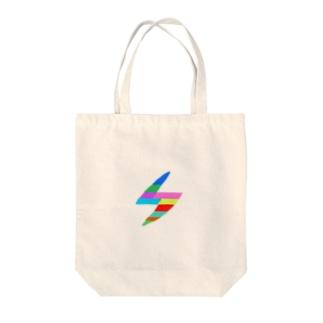 イナズマレインボー Tote bags