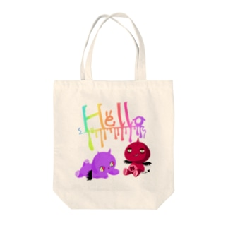 Hello悪魔君 Tote bags