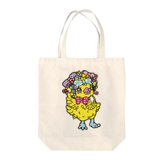 アヒルのファニー(うさぎのラビのお友達)カラフル Tote bags