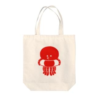マリンシリーズ・タコ Tote bags
