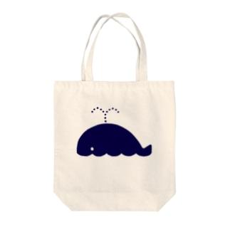 マリンシリーズ・くじら Tote bags