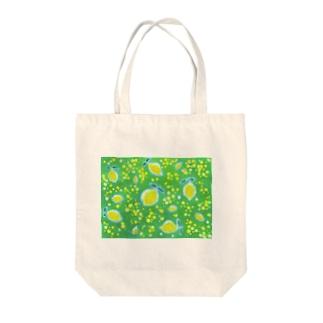 夏にどうぞ 木漏れ日とレモン Tote bags