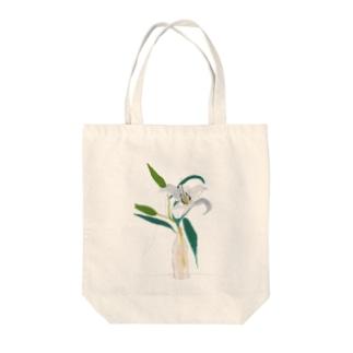 百合 Tote bags