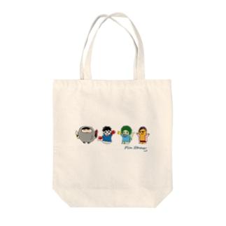 ピンストロー(メンバー集合) Tote bags