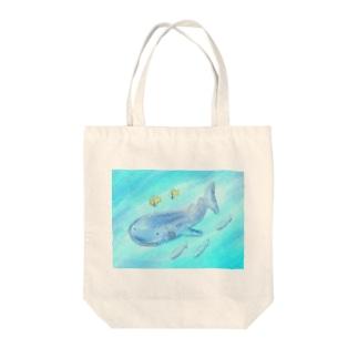 ゆるかわジンベイザメ Tote bags