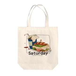 土曜日の昼 Tote bags
