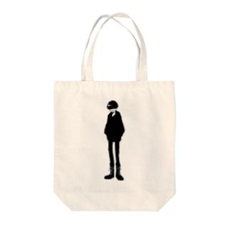 真っ黒 Tote bags