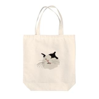 ハチワレタロウ Tote bags