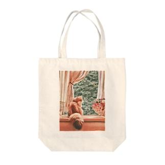 窓辺の猫こべびちゃん  Tote bags