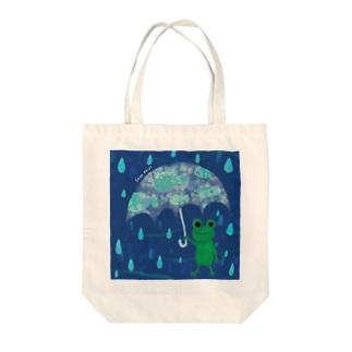 カエルのアンブレラ Tote bags