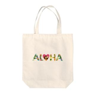 ボタニカルALOHA Tote bags