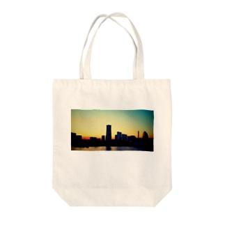 初恋の夕景 Tote bags