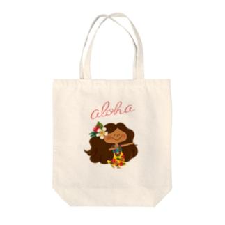 aloha! HULA KAPUA Tote bags