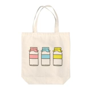 ぎゅうにゅうびん Tote bags