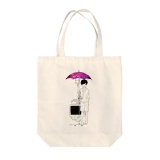 愛を吸う傘 Tote bags