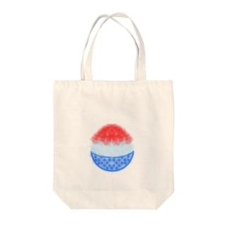 かき氷(いちご) Tote bags