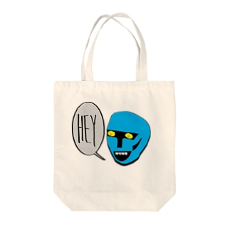 Hell Blue Boy Tote bags