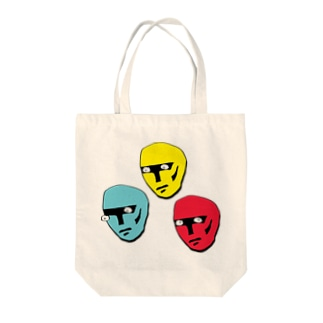 COLORFUL HEADS Tote bags