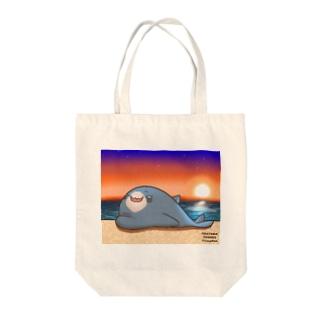 黄昏のサメ吉 Tote bags