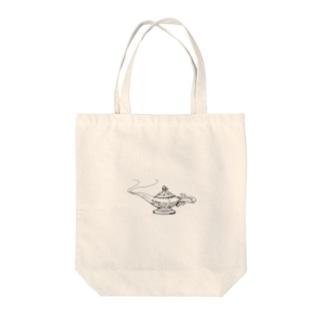 魔法のランプ Tote bags