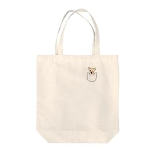 Pocket zura-chan Tote bags