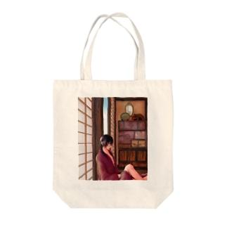 待ち人(ルイス) Tote bags