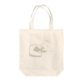 1万円をはんぺんにそろり。 Tote bags