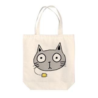 ジュウデンネコ Tote bags